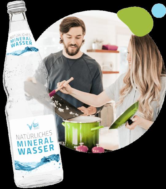 Leckere Rezepte kochen mit Mineralwasser